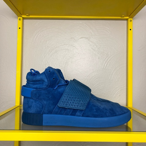 5424a655a309 Adidas Tubular Invader Strap Blue Men s 10 - NEW